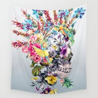 punk Wall Tapestries featuring  Punk Portrait by RIZA PEKER