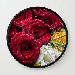 My lovely roses Wall Clock