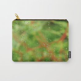 Rain drops on glasshouse window Carry-All Pouch