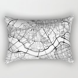 Seoul Map White Rectangular Pillow