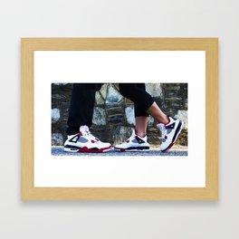 His and Her Jordans Framed Art Print
