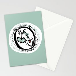 Apple Heart Stationery Cards