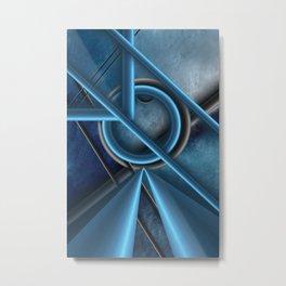 Abstract metal Metal Print