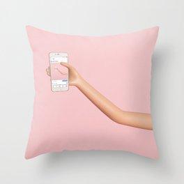 Social media mise en abyme Throw Pillow