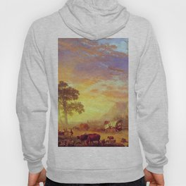 The Oregon Trail 1869 By Albert Bierstadt | Reproduction Painting Hoody