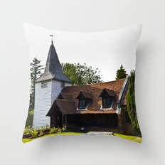 Greensted Church Throw Pillow
