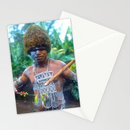 Exotic Travel Papua New Guinea: Sing Sing Celebration Stationery Cards