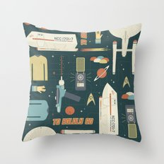 To Boldly Go... Throw Pillow