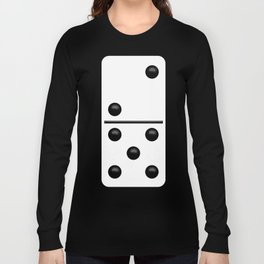 White Domino / Domino Blanco Long Sleeve T-shirt