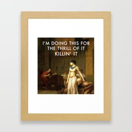 Cleopatra Killin' It Framed Art Print