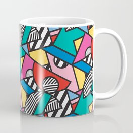 Colorful Memphis Modern Geometric Shapes - Tribal Kente African Aztec Coffee Mug
