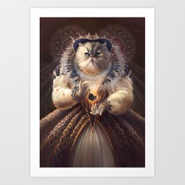 Cat Queen Art Print