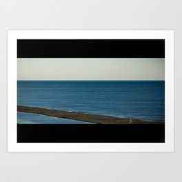 Wide Ocean Beach (Landscape) Art Print