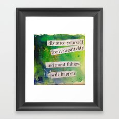 Positive Framed Art Print