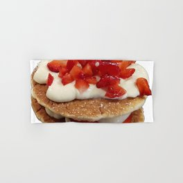 pancakes_strawberries_and_whip_cream Hand & Bath Towel