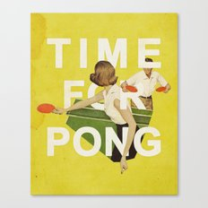 Time For Pong Canvas Print