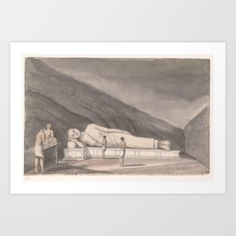 Adam's Berg (Mulkirigala), Reclining Buddha, Jan Brandes, 1785 Art Print