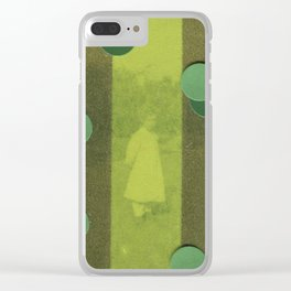 Green Curtain Clear iPhone Case