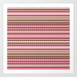 Vector ribbons and laces seamless borders Art Print