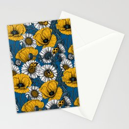 The meadow in yellow and blue Stationery Cards