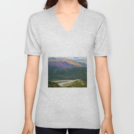 A Touch of Frost in Autumn Unisex V-Neck