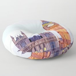 Geometric Big Ben, London, UK Floor Pillow