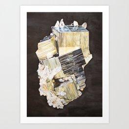 Pyrite and Quartz Art Print