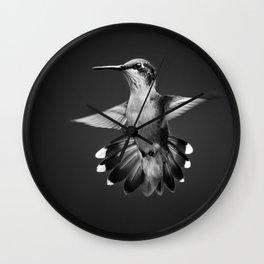 Hummingbird Bw Wall Clock