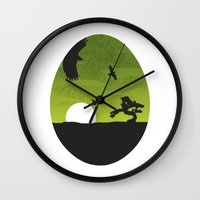 egg Wall Clocks featuring Egg by Broenner