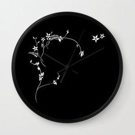 Scrolling Inlay Wall Clock