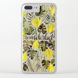Tropical Wanderlust – Yellow & Olive Palette Clear iPhone Case
