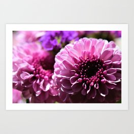 Pinky Purple Bouquet of Flowers by Reay of Light Photography Art Print