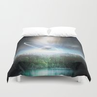 cup Duvet Covers featuring Death cup by HappyMelvin