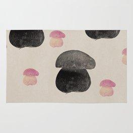 Black mushroom Rug