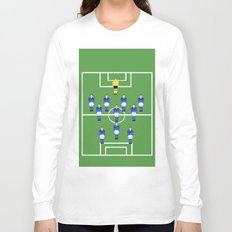 Football Soccer sports team in blue Long Sleeve T-shirt