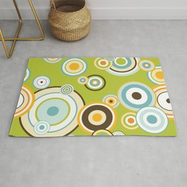 Colorful circle design Rug