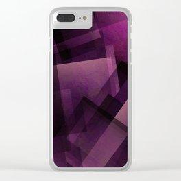 Modular Magenta - Digital Geometric Texture Clear iPhone Case