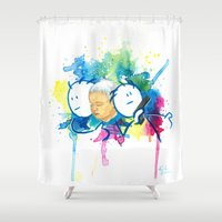 guardians Shower Curtains featuring Guardians by Krister Vikstrom