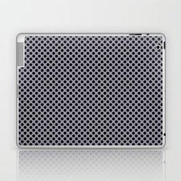 Lilac Gray and Black Polka Dots Laptop & iPad Skin
