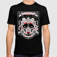 Amigos Forever MEDIUM Black Mens Fitted Tee