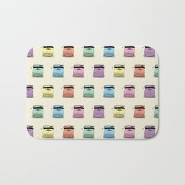 A head full of typewriters - pattern - vintage - '50s - 1950 - fifties- lettera 22 - Oiivetti facsim Bath Mat