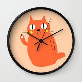 Hello Cat Wall Clock
