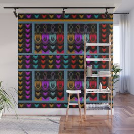 HEARTS and HANDS, flipped photo art Wall Mural