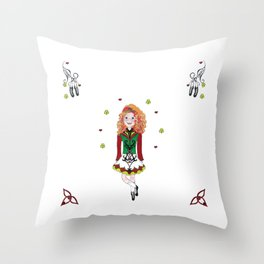 Irish Dancing Girl Throw Pillow