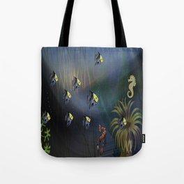Tropical Underwater Wave  Tote Bag