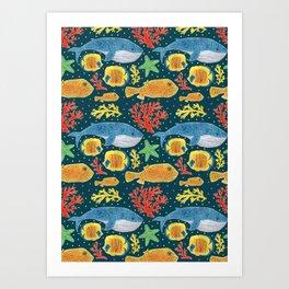 Sea Life Print Art Print