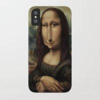 mona lisa iPhone & iPod Cases featuring Mona Lisa by Alexander Novoseltsev