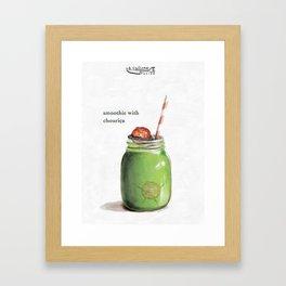 La Cuisine Fusion - Smoothie with Chouriça Framed Art Print