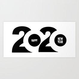Happy new year 2020 Art Print