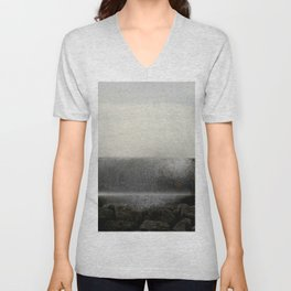 The ocean behind the wall Unisex V-Neck